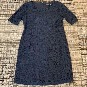 Ellen Tracy Navy Lace Dress